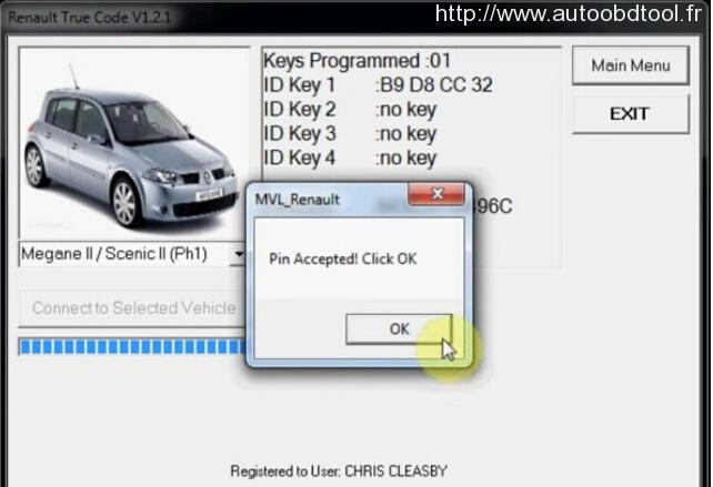 prix reprogrammation carte megane 2 Programmer la carte clé Renault Megane II avec FNR 4 en 1